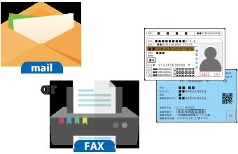 身分証明書のコピーをFAXまたはメール